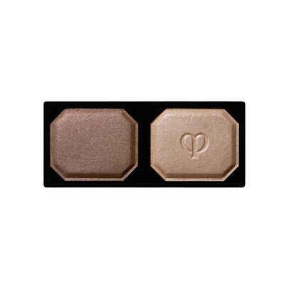 A magnified image of the texture of the Eye Color Duo Refill, Grounded