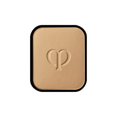 A magnified image of the texture of the Radiant Powder Foundation Refill, Medium Ochre