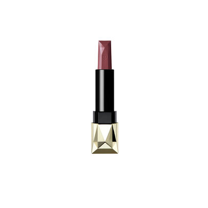 A magnified image of the texture of the Extra Rich Lipstick Refill (Velvet), Dark red brown