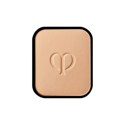 A magnified image of the texture of the Radiant Powder Foundation Refill, Warm Beige